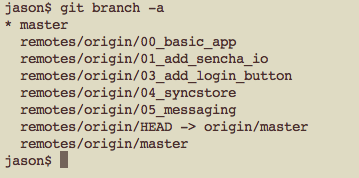 git branch -a