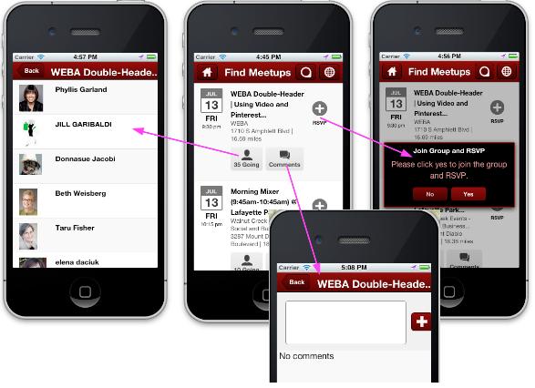 using meetup as dating app