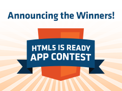 Announcing the HTML5 is Ready App Contest Winners
