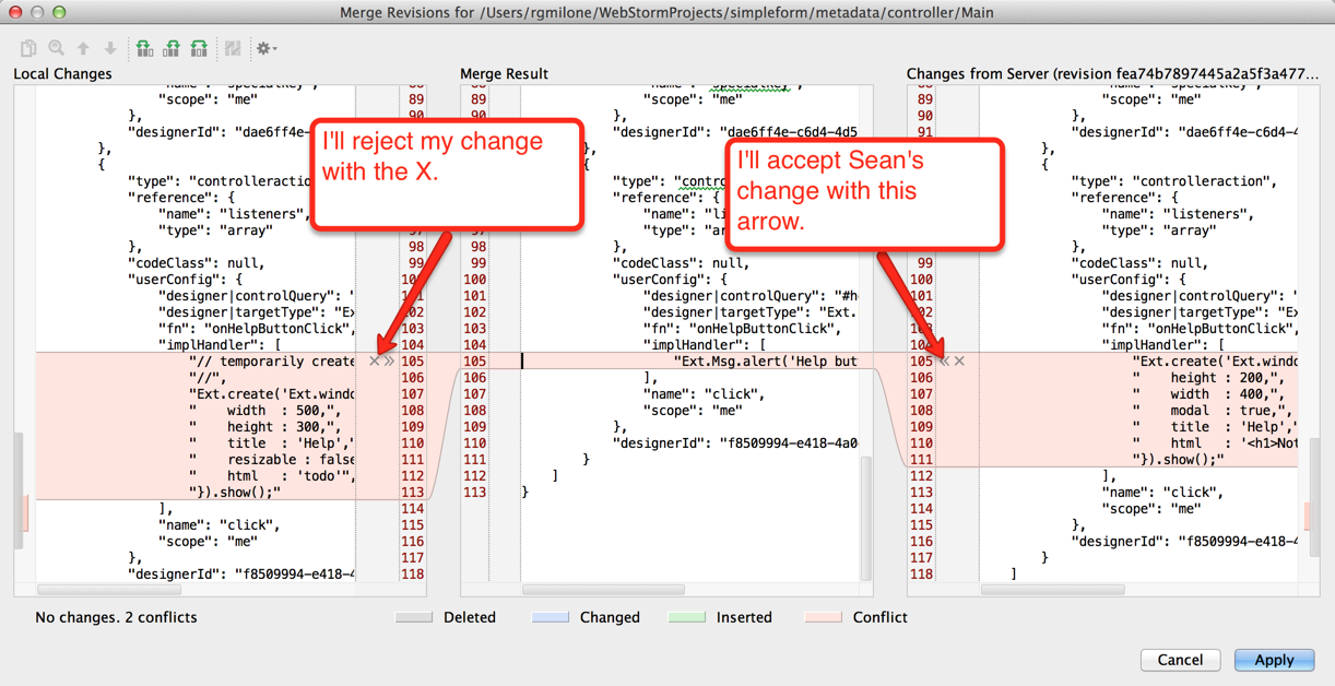 Richard's WebStorm - Sean's merge revision accepted in Main metadata file