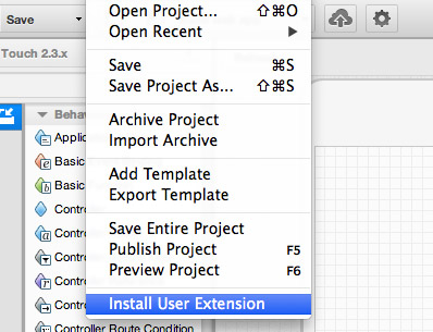 Sencha Architect 3 Custom User Extensions