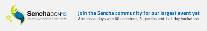 Sign up for SenchaCon 2013