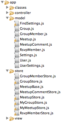 Model and Store folders