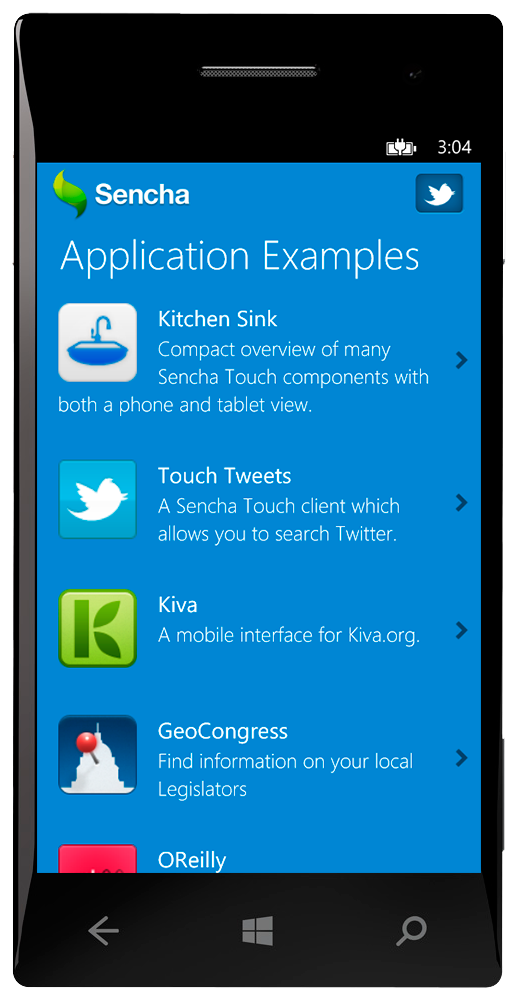 Sencha Touch with Windows Phone 8 - Sencha.com | Sencha.com