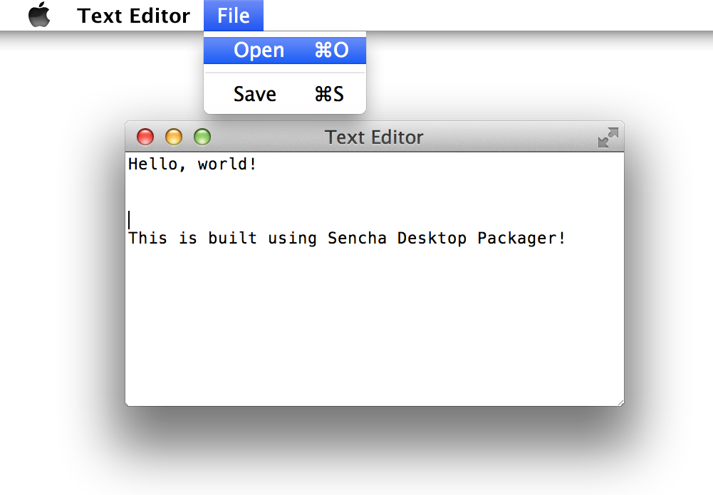 Using Native APIs with Sencha Desktop Packager