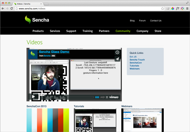 Sencha Video Chanel