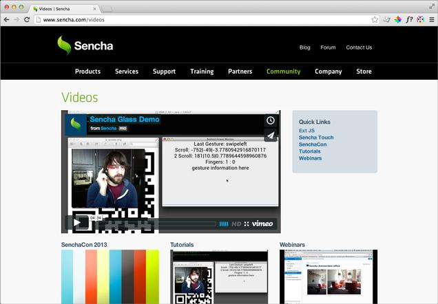 Sencha Video Chanel